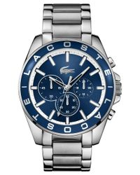 Lacoste | Metallic Men's Chronograph Westport Stainless Steel Bracelet Watch 45mm 2010856 for Men | Lyst