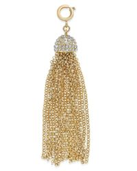 INC International Concepts - Metallic M. Haskell For Inc Gold-tone Pave Tassel Clip-on Pendant - Lyst