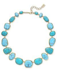 Lauren by Ralph Lauren - Blue Gold-tone Turquoise-color Stone Collar Necklace - Lyst