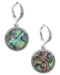 Judith Jack | Multicolor Silver-tone Turquoise And Crystal Drop Earrings | Lyst