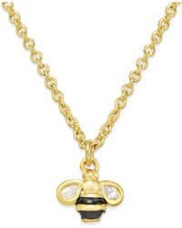 kate spade new york | Metallic 12k Gold-plated Bumblebee Pendant Necklace | Lyst