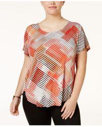 Alfani - Multicolor Plus Size Printed T-shirt - Lyst
