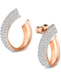 Swarovski | Metallic Pave Swirl Stud Earrings | Lyst