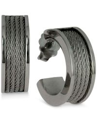 Charriol | Metallic Women's Forever Stainless Steel Cable Hoop Earrings | Lyst
