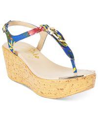Callisto - Multicolor Barton Wedge Sandals - Lyst