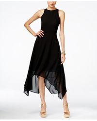 Michael Kors | Black Michael Handkerchief-hem Dress | Lyst