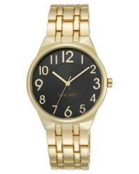 Nine West | Metallic Women's Gold-tone Stainless Steel Bracelet Watch 38mm Nw/1756bkgb | Lyst