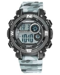 Armitron Men's Digital Chronograph Black And Gray Camouflage Strap Watch 54mm 40-8284cmgy for men