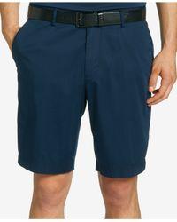 BOSS - Blue Boss Stretch Cotton Shorts for Men - Lyst