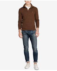Polo Ralph Lauren - Brown Men's Ribbed Pullover for Men - Lyst