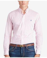 Polo Ralph Lauren | Gray Men's Twill Sport Shirt for Men | Lyst