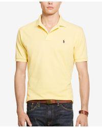 Polo Ralph Lauren | Yellow Men's Classic-fit Cotton Mesh Polo Shirt for Men | Lyst