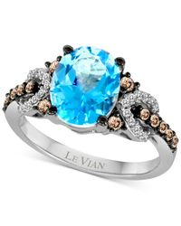 Le Vian | Chocolatier Blue Topaz (2-3/4 Ct. T.w.) And Diamond (1/3 Ct. T.w.) Ring In 14k White Gold | Lyst