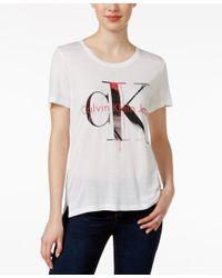Calvin Klein Jeans White Logo T-shirt