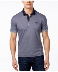 BOSS - Gray Green Men's C- Janis Polo Shirt for Men - Lyst