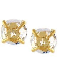 Vince Camuto - Metallic Gold-tone Crystal Stud Earrings - Lyst