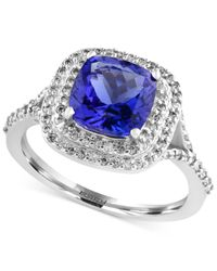 Effy Collection | Metallic Tanzanite (2-1/4 Ct. T.w.) And Diamond (3/8 Ct. T.w.) Ring In 14k White Gold | Lyst