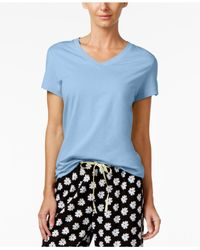 Hue | Blue V-neck Pajama T-shirt | Lyst