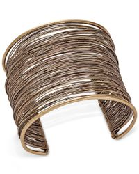 INC International Concepts - Metallic Gold-tone Wire-wrapped Cuff Bracelet, Only At Macy's - Lyst