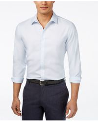 INC International Concepts | Blue Men's Kurt Non-iron Shirt, Only At Macy's for Men | Lyst