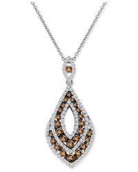 Le Vian - Metallic Chocolatier Diamond Pendant Necklace (7/8 Ct. T.w.) In 14k White Gold - Lyst