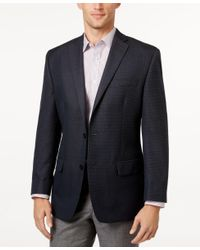 Michael Kors | Michael Men's Classic-fit Blue Houndstooth Sport Coat for Men | Lyst
