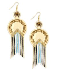 Danielle Nicole | Metallic Gold-tone Moon Goddess Drop Earrings | Lyst
