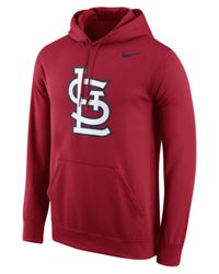 Nike - Red Men's St. Louis Cardinals Performance Hoodie for Men - Lyst