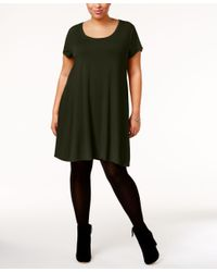 Style & Co. | Multicolor Plus Size Short-sleeve Swing Dress, Only At Macy's | Lyst