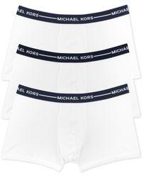 Michael Kors | White Men's Ultimate Cotton Stretch Trunks, 3-pack for Men | Lyst
