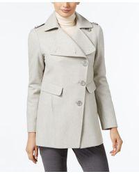 Kenneth Cole | Gray Asymmetrical Walker Coat | Lyst