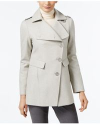 Kenneth Cole | Gray Asymmetrical-button Coat | Lyst