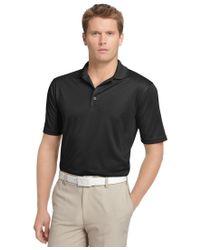 Izod | Black Performance Solid Grid Golf Polo for Men | Lyst