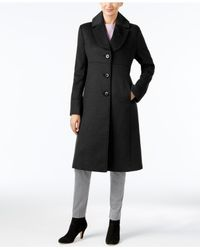 Jones New York | Black Petite Notch-collar Walker Coat | Lyst