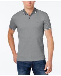 Michael Kors | Gray Men's Contrast Polo for Men | Lyst