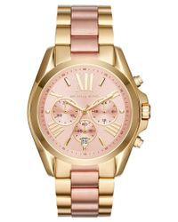 Michael Kors | Multicolor Women's Chronograph Bradshaw Two-tone Stainless Steel Bracelet Watch 43mm Mk6359 | Lyst