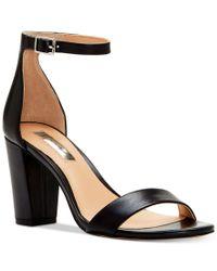 INC International Concepts | Black Kivah Block-heel Dress Sandals, Only At Macy's | Lyst