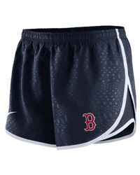 Nike - Blue Women's Boston Red Sox Modern Tempo Shorts - Lyst