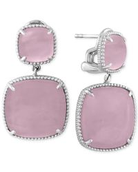 Effy Collection | Purple Serenity By Effy Rose Quartz Drop Earrings (27-9/10 Ct. T.w.) In Sterling Silver | Lyst