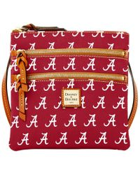 Dooney & Bourke | Pink Alabama Crimson Tide Triple Zip Crossbody Bag | Lyst