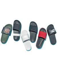 DKNY - Black Silos Logo Shower Slide Sandals for Men - Lyst