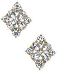 Charter Club - Metallic Gold-tone Crystal Stud Earrings, Created For Macys - Lyst