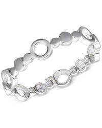 Nine West - Metallic Silver-tone Disc Stretch Bracelet - Lyst