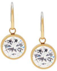 Michael Kors - Metallic Bezel-set Round Crystal Drop Earrings - Lyst