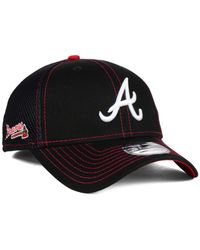 KTZ - Black Atlanta Braves Crux Line Neo 39thirty Cap for Men - Lyst