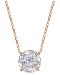 Danori | Metallic Rose Gold-tone Round Crystal Pendant Necklace, Only At Macy's | Lyst