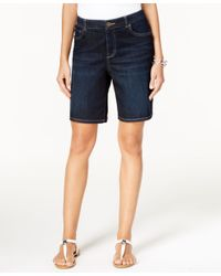 Style & Co. - Blue Petite Caneel Wash Boyfriend Shorts, Only At Macy's - Lyst