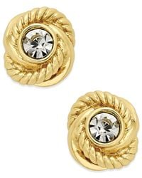 Kate Spade | Metallic Infinity & Beyond Gold-tone Crystal Knot Stud Earrings | Lyst