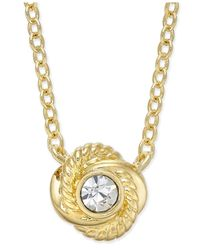 kate spade new york | Metallic Infinity & Beyond Gold-tone Crystal Knot Pendant Necklace | Lyst