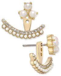 kate spade new york   Metallic Dainty Sparklers Gold-tone Imitation Pearl Earring Jackets   Lyst